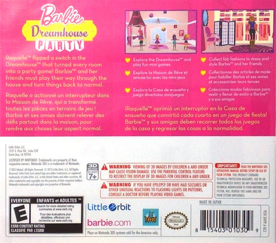 Barbie Dreamhouse Party 3DS backM (AAVE)