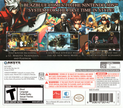 BlazBlue - Continuum Shift II 3DS backM (ABLZ)