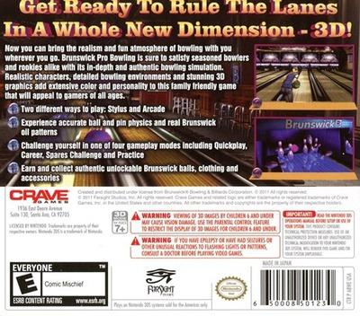 Brunswick Pro Bowling 3DS backM (ABWE)