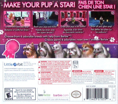 Barbie Groom & Glam Pups 3DS backM (ABYE)