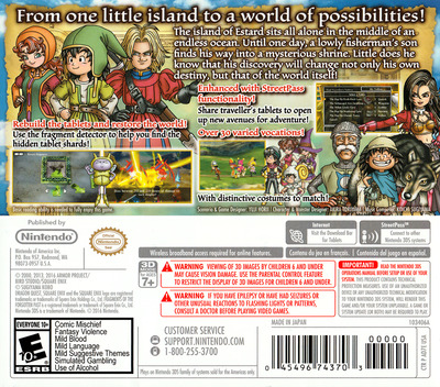 Dragon Quest VII: Fragments of the Forgotten Past 3DS backM (AD7E)