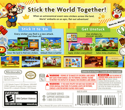 Paper Mario - Sticker Star 3DS backM (AG5E)