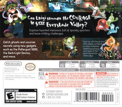 Luigi's Mansion - Dark Moon 3DS backM (AGGE)