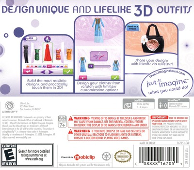 Imagine - Fashion Designer 3DS backM (AGUE)