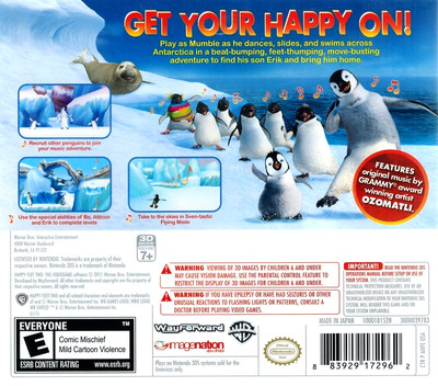 Happy Feet Two 3DS backM (AHFE)