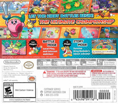Kirby Battle Royale 3DS backM (AJ8E)