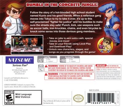 River City: Tokyo Rumble 3DS backM (AK2E)