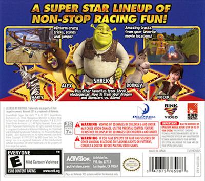 DreamWorks Super Star Kartz 3DS backM (AKZE)