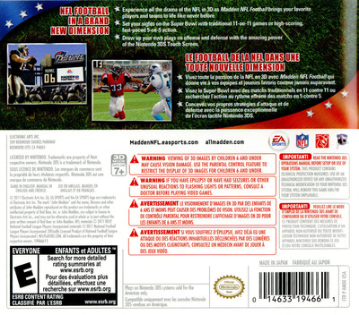 Madden NFL Football 3DS backM (AMDE)