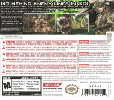 Metal Gear Solid 3D - Snake Eater 3DS backM (AMGE)