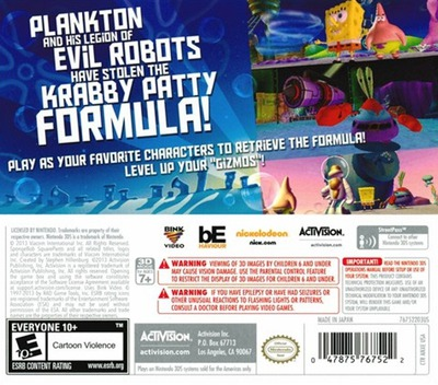 SpongeBob SquarePants - Plankton's Robotic Revenge 3DS backM (ANXE)