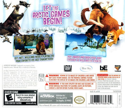 Ice Age - Continental Drift - Arctic Games 3DS backM (AQLE)