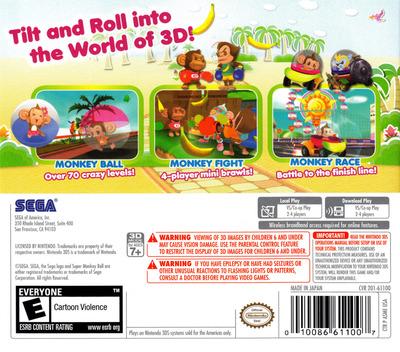 Super Monkey Ball 3D 3DS backM (ASME)