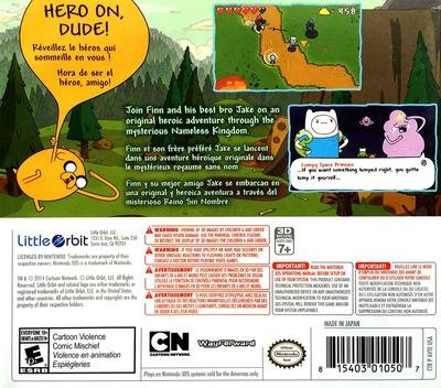 Adventure Time - The Secret of the Nameless Kingdom 3DS backM (AVTE)