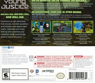 Young Justice - Legacy 3DS backM (AYJE)