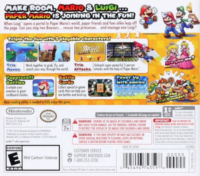 Mario & Luigi - Paper Jam 3DS backM (AYNE)