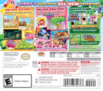 Kirby - Triple Deluxe 3DS backM (BALE)