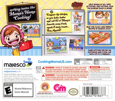 Cooking Mama 5 - Bon Appetit! 3DS backM (BC5E)