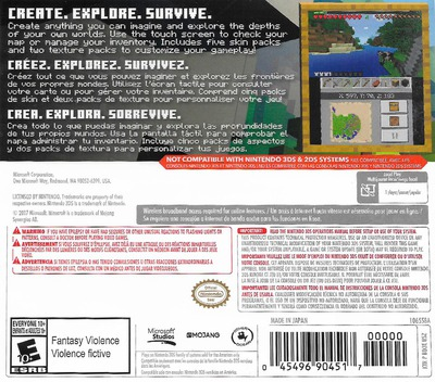 Minecraft: New Nintendo 3DS Edition 3DS backM (BD3E)