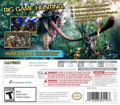 Monster Hunter 4 Ultimate 3DS backM (BFGE)