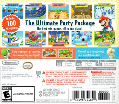 Mario Party: The Top 100 3DS backM (BHRE)