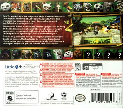 Kung Fu Panda: Showdown of Legendary Legends 3DS backM (BKFE)