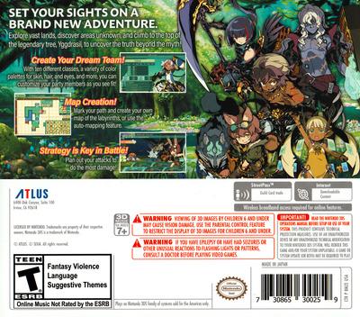Etrian Odyssey V: Beyond the Myth 3DS backM (BMZE)