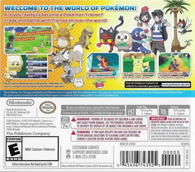 Pokémon Sun 3DS backM (BNDE)