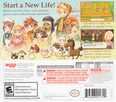 Return to PoPoLoCrois: A Story of Seasons Fairytale 3DS backM (BPPE)
