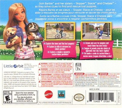 Barbie & Her Sisters - Puppy Rescue 3DS backM (BRQE)