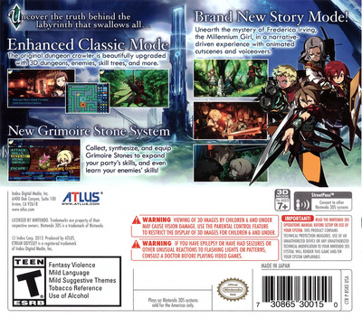 Etrian Odyssey Untold - The Millennium Girl 3DS backM (BSKE)