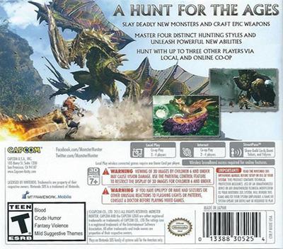 Monster Hunter Generations 3DS backM (BXXE)