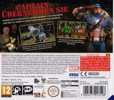 Captain America - Super Soldier 3DS backM (ACAP)
