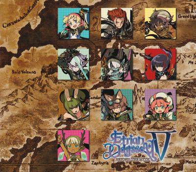 Etrian Odyssey V: Beyond the Myth 3DS backM2 (BMZE)