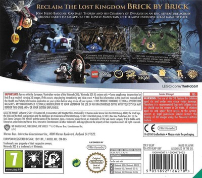 LEGO The Hobbit 3DS backMB (BLHP)