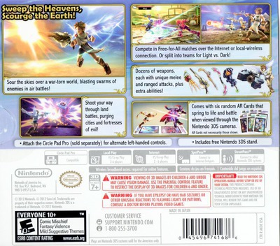 Kid Icarus - Uprising 3DS backMB (AKDE)