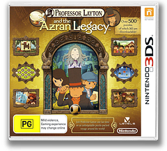 Professor Layton and the Azran Legacy 3DS cover (AL6P)