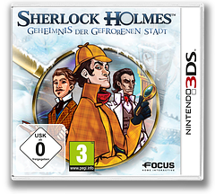 Sherlock Holmes - The Mystery of the Frozen City 3DS cover (AHAP)