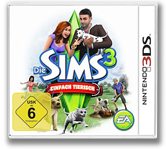 The Sims 3 - Pets 3DS cover (AS4P)