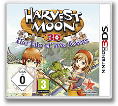 Harvest Moon 3D - The Tale of Two Towns 3DS cover (AT2P)