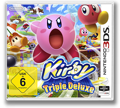 Kirby - Triple Deluxe 3DS cover (BALP)