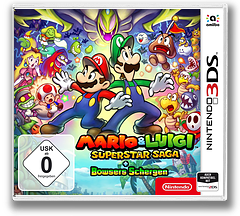 Mario & Luigi: Superstar Saga + Bowser's Minions 3DS cover (BRMP)