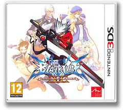 BlazBlue - Continuum Shift II 3DS cover (ABLP)