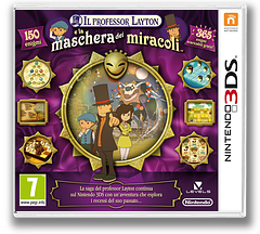 Il Professor Layton e la Maschera dei Miracoli 3DS cover (AKKI)