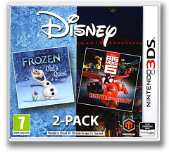Disney Frozen: Olaf's Quest and Disney Big Hero 6: Battle in the Bay 3DS cover (BF6Z)
