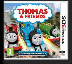 Thomas & Friends - Steaming around Sodor 3DS cover (BTBP)