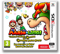 Mario & Luigi: Bowser's Inside Story + Bowser Jr.'s Journey 3DS cover (A3RP)