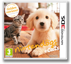 Nintendogs + Cats - Golden Retriever & New Friends pochette 3DS (ADAP)