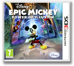Disney Epic Mickey - Power of Illusion pochette 3DS (AECX)