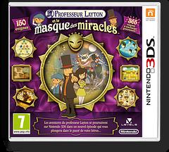 Professor Layton and the Miracle Mask pochette 3DS (AKKP)